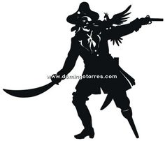 236x202 Pirate Silhouette Kid's Bedrooms Silhouettes