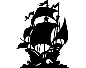 340x270 Pirate Ship Silhouette Clipart Collection
