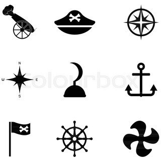 320x320 Third Set Of Silhouettes. Vector Illustration Stock Vector