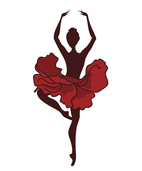 488x587 Ballerina Pirouette Spin Silhouette With Red Tutu
