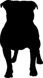 164x300 Pit Bull Silhouette Clipart
