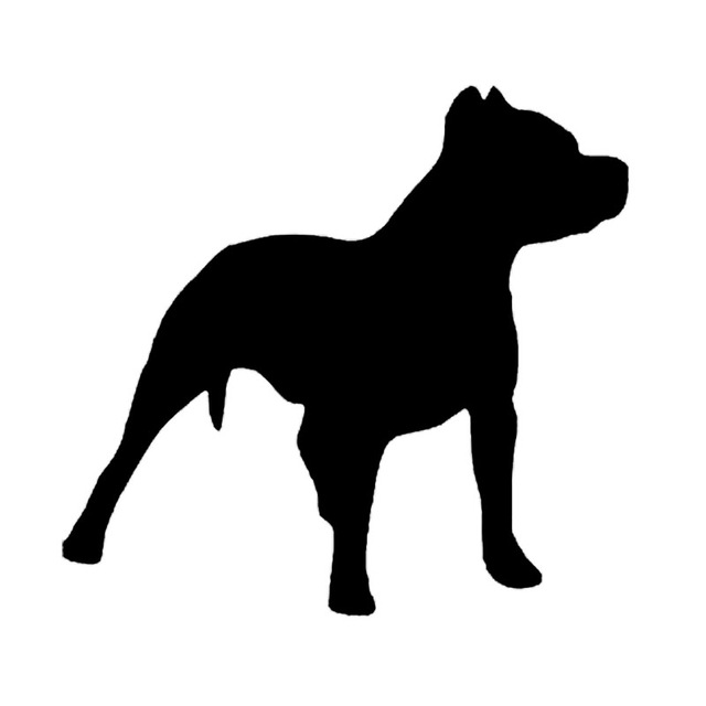 Pitbull Dog Silhouette