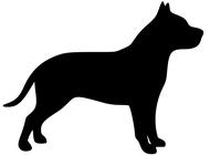 190x140 I Love My Amstaff Vinyl Decal Sticker 5 X 5 Dog Pitbull American