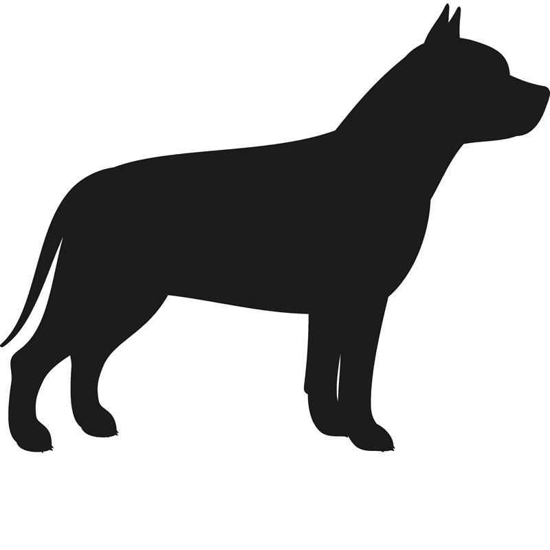 800x800 Pit Bull Stamp (Silhouette) Dog, Cat Amp Fur Baby Stamps Stamptopia