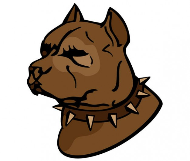 626x532 Pitbull With Pointy Belt Vector Free Download