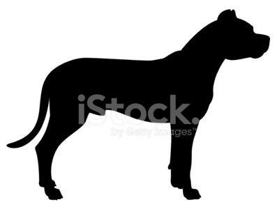 397x300 Dogo Argentino Dog Silhouette Stock Vectors
