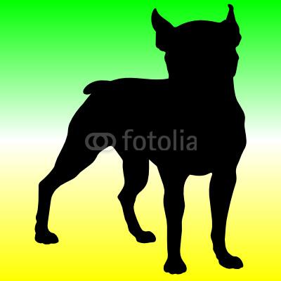 Pitbull Silhouette Clip Art