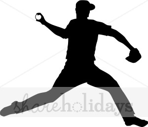 300x257 Baseball Pitcher Silhouette Clipart Party Clipart Amp Backgrounds