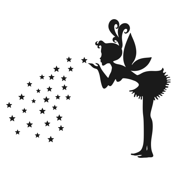 600x600 Fairy Silhouette Cuttable Design