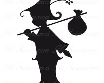 340x270 Fairy Silhouette Instant Download Poster Wall