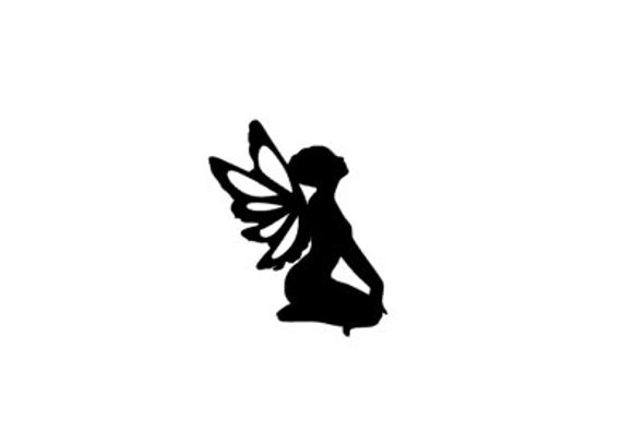 570x407 Fairy Silhouette Fairy Decal Fairy Car Decal Fairy Laptop