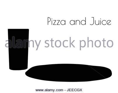 404x320 Pizza Silhouette Illustration Stock Vector Art Amp Illustration