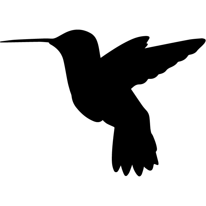 700x700 Humming Bird Plain Silhouette Birds Amp Feathers Wall Sticker Home