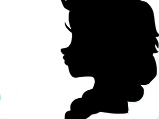 320x240 Just A Plain Silhouette Of Elsa. )