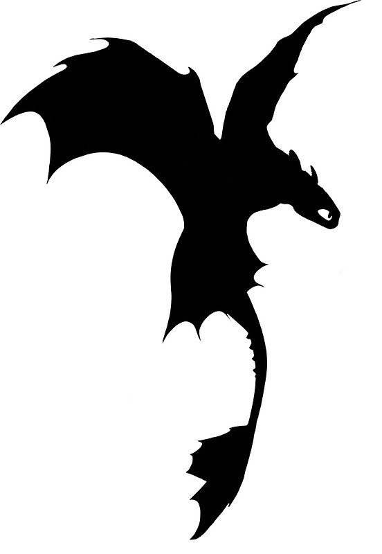 552x800 Toothless Silhouette