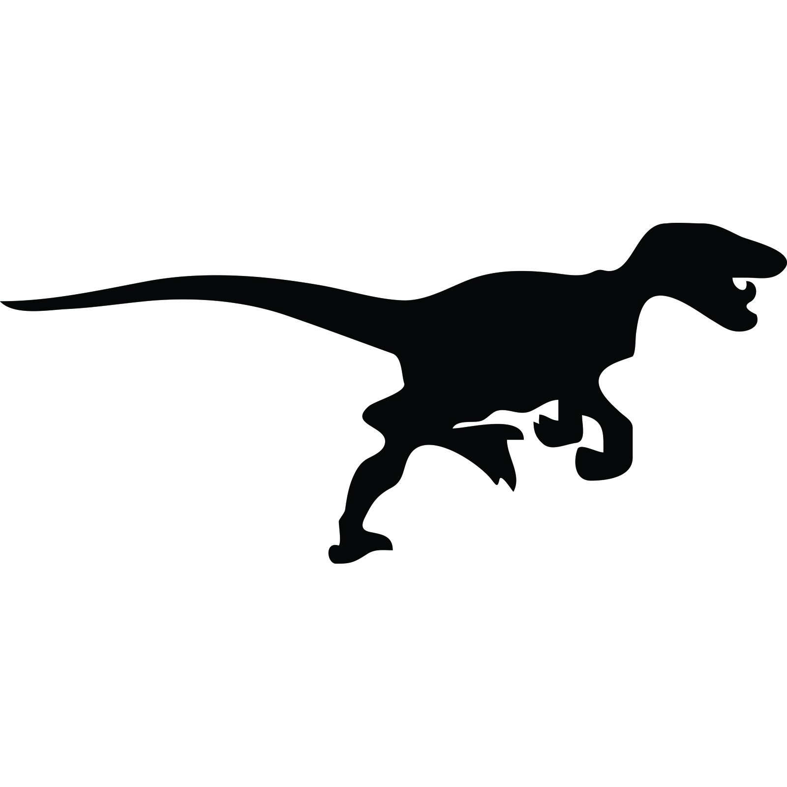 1600x1600 Velociraptor Dinosaur Silhouette Wall Sticker