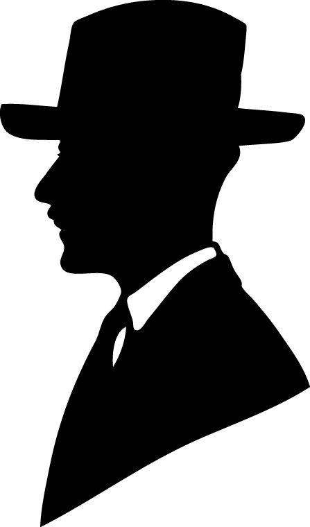 447x760 vintage man silhouette