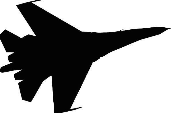 596x396 Fighter Jet, Outline, Plane, Flat, Silhouette, Technology