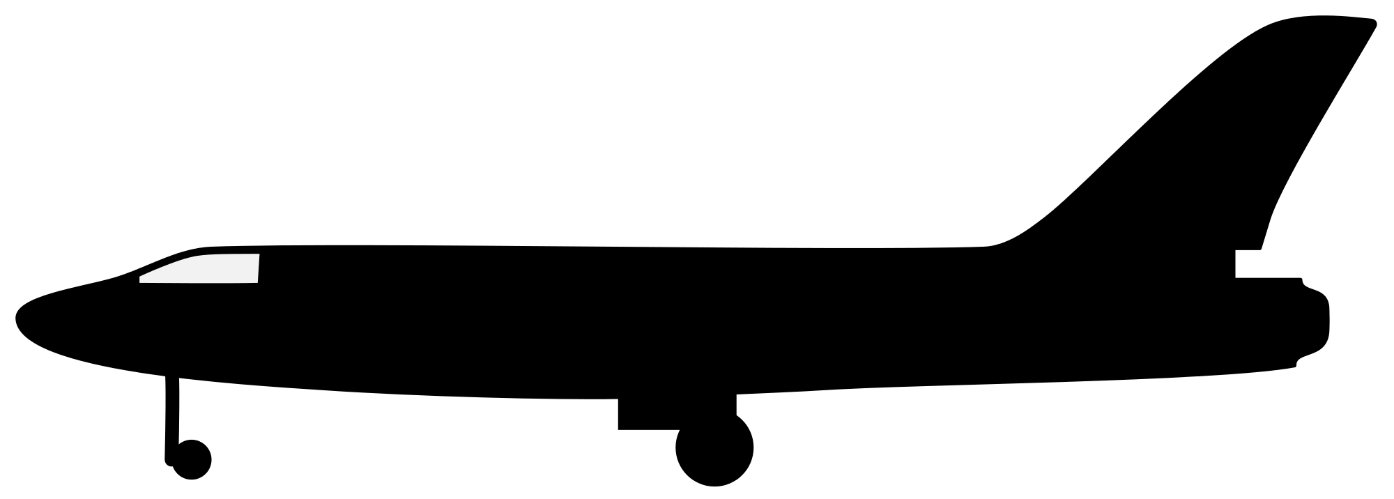 2000x716 Filesilhouette Plane.svg