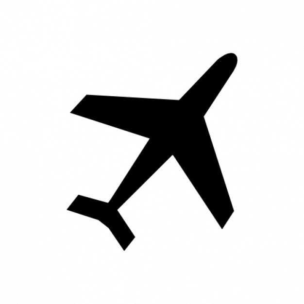 626x626 Plane Silhouette Icons Free Download
