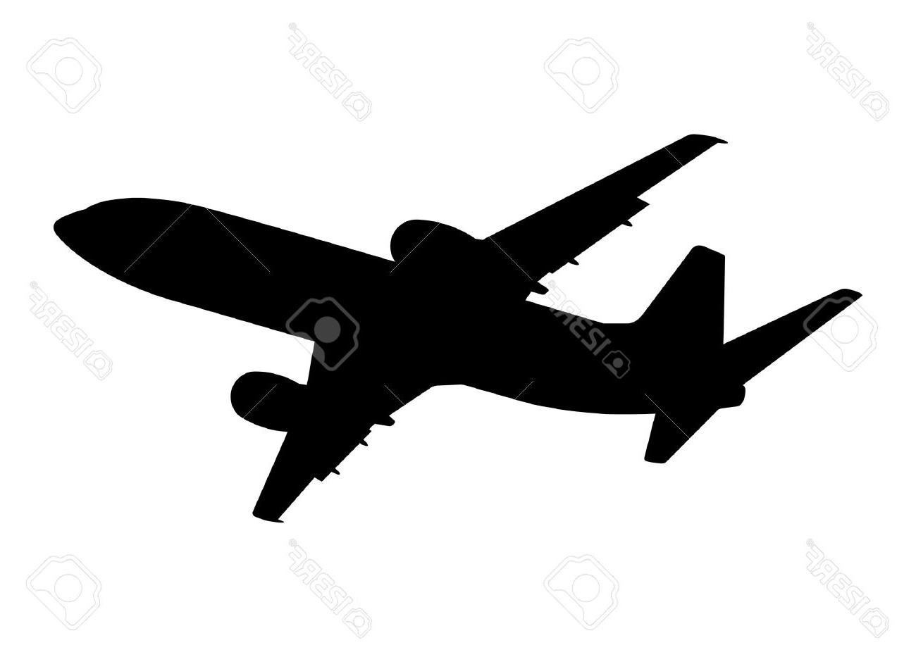1300x933 Top 10 Plane Silhouette On White Background Vector Illustration