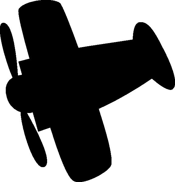 576x599 Airplane Silhouette Clip Art