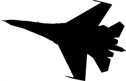 425x276 Airplane Fighter Silhouette Clip Art Vector, Free Vectors