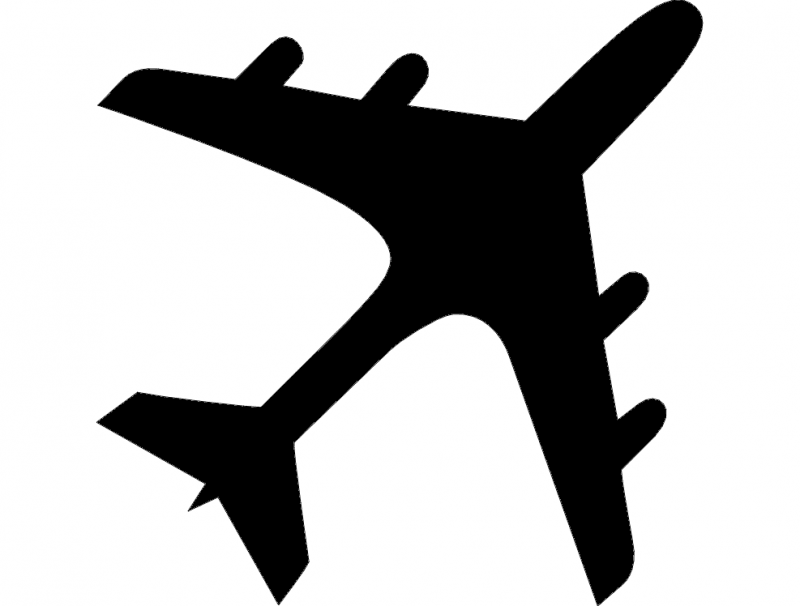 800x606 Airplane Silhouette Dxf File Free Download
