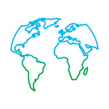 160x160 Silhouette World Map Location Planet Vector Illustration Dotted