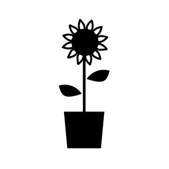 340x340 Free Silhouettes Flower, Sunflower, Up