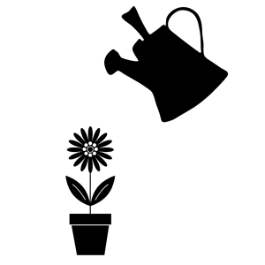 300x300 Potted Flower And Watering Can Clipart, Cliparts Of Potted Flower