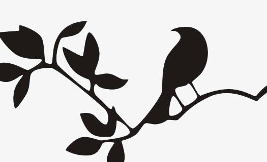 525x320 Hand Painted Leaves Silhouette, Leaf, Hand Painted, Plant Png