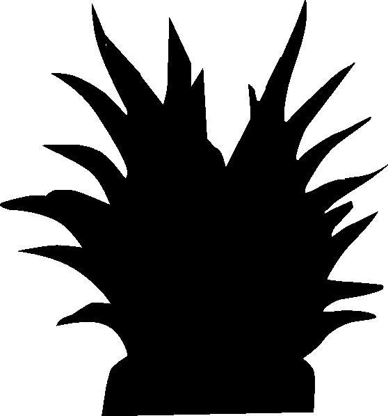 558x598 Plant Silhouette Clip Art