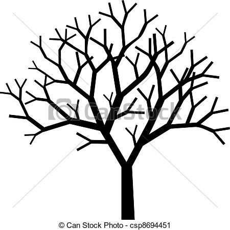 450x450 Tree Silhouette Vector Clip Art