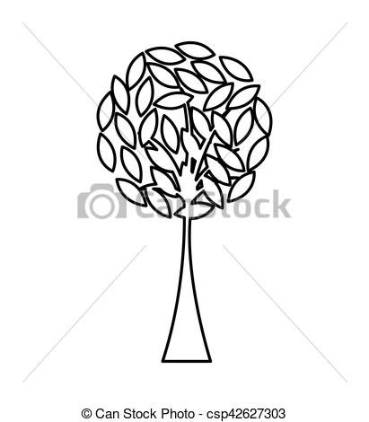 411x470 Tree Plant Silhouette Isolated Icon Vector Illustration Vector