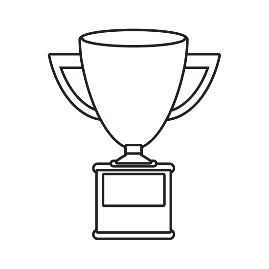 550x550 Silhouette Trophy Cup With Plate