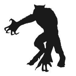250x250 Werewolf Silhouette Silhouettes Werewolves