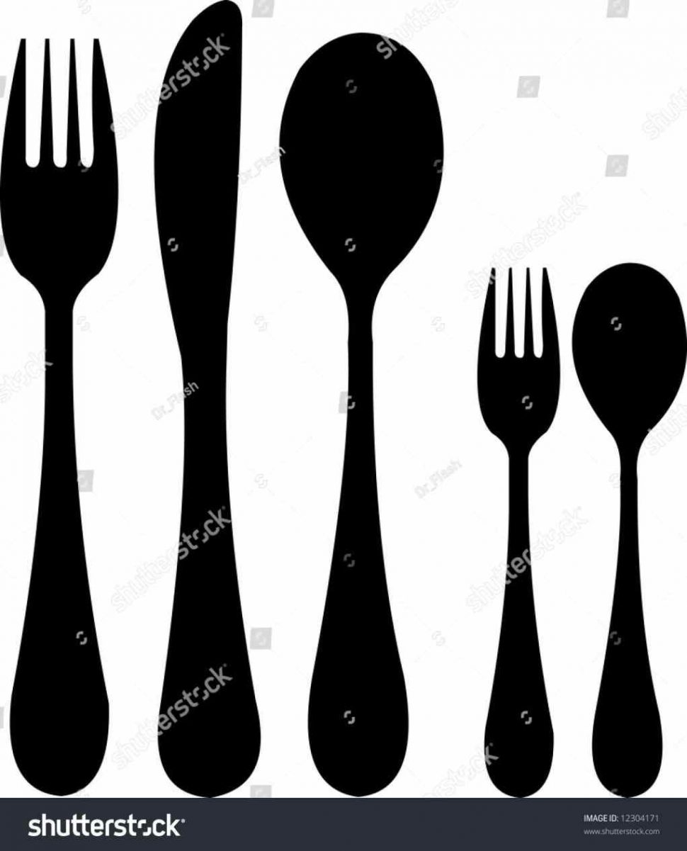970x1201 Spoon Amp Fork Reusable Diy Craft Stencils Of A Plate And Png