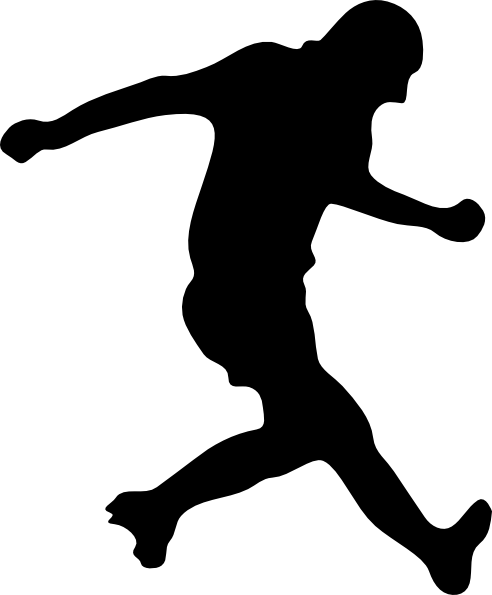 492x595 Girl Soccer Player Silhouette Clipart Panda