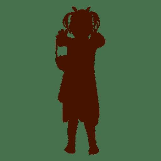 512x512 Girl Play Silhouette