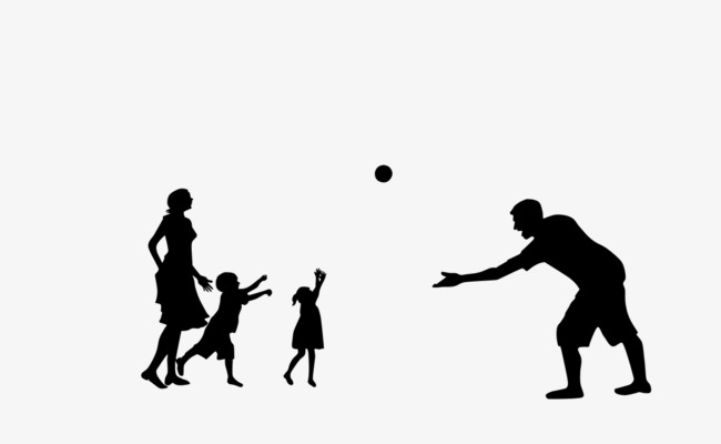 650x400 A Person To Play Games, Play Games, Family, Black Silhouette Png