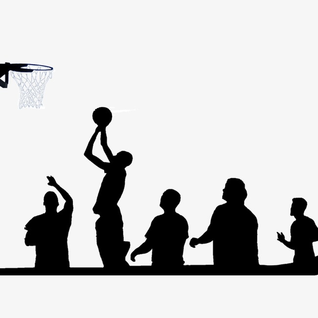 650x650 Playing Basketball Silhouette, Play, Shoot A Basket, Black Png