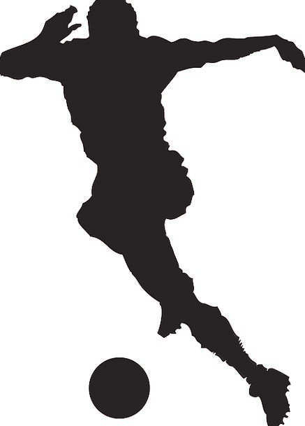 437x609 Soccer Player, Striker, Player, Actor, Soccer, Play, Silhouette