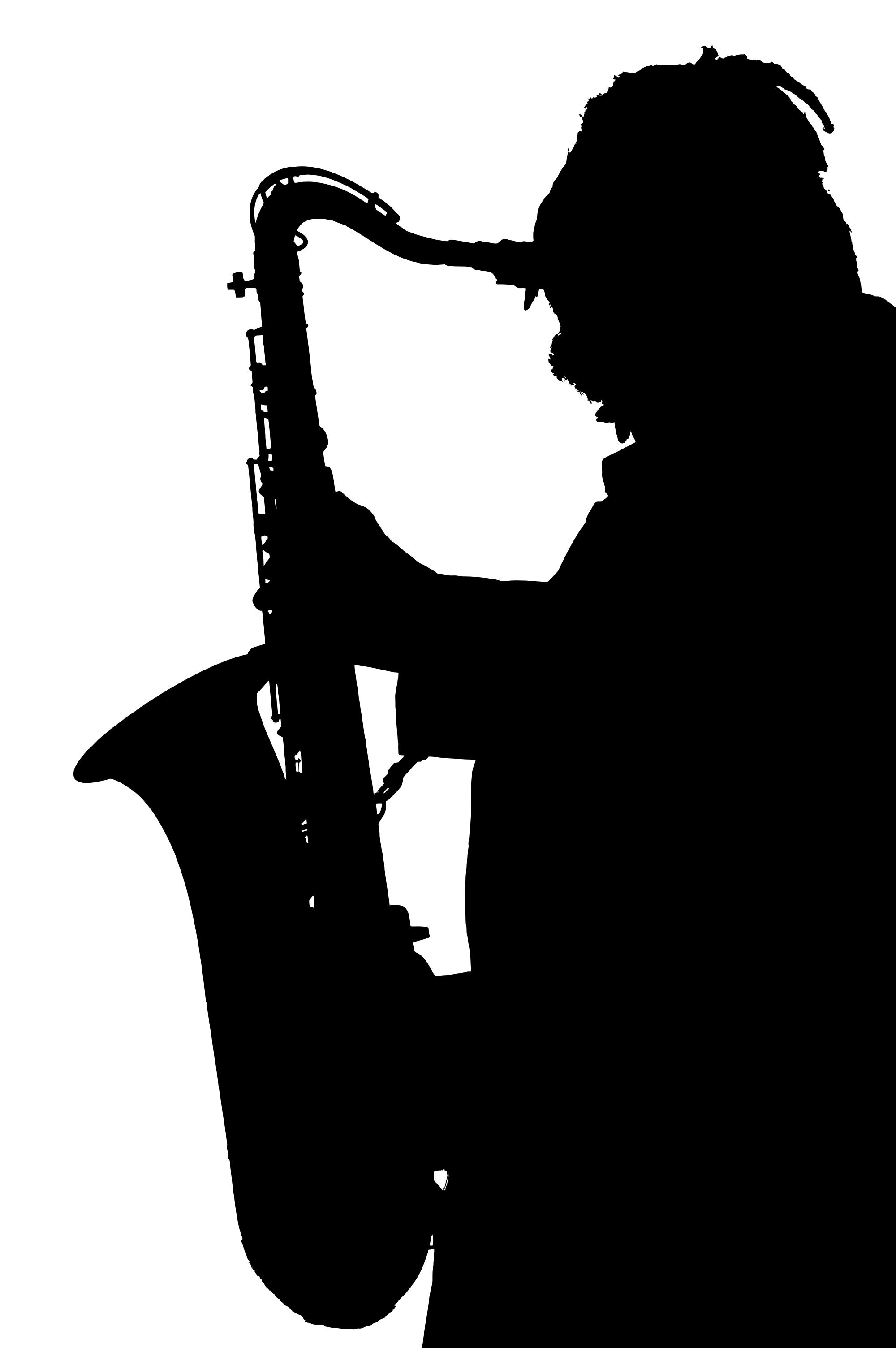 2000x3008 Saxophone Player Silhouette Clipart