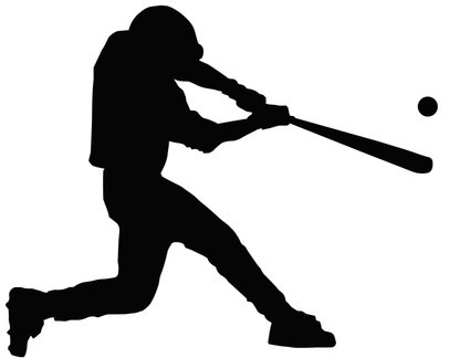 406x324 Baseball Player Clipart Silhouette