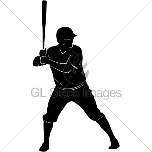 500x500 Baseball Player Silhouette Gl Stock Images