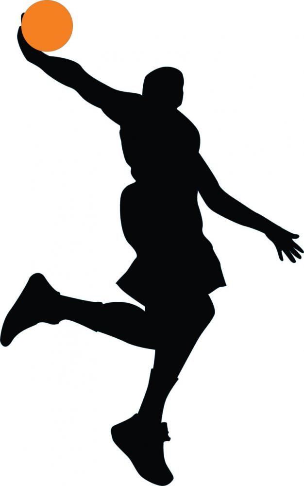 626x1000 Basketball Player Silhouette