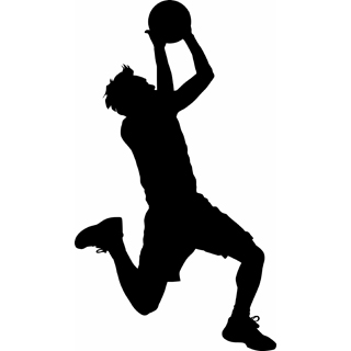 320x320 Basketball Player Silhouette Clipart