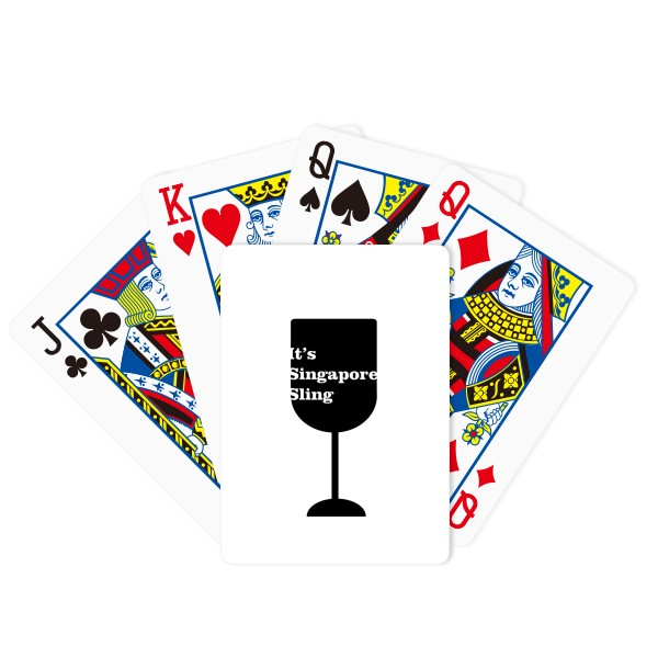600x600 Silhouette Of Singapore Sling Cocktail Poker Playing Cards