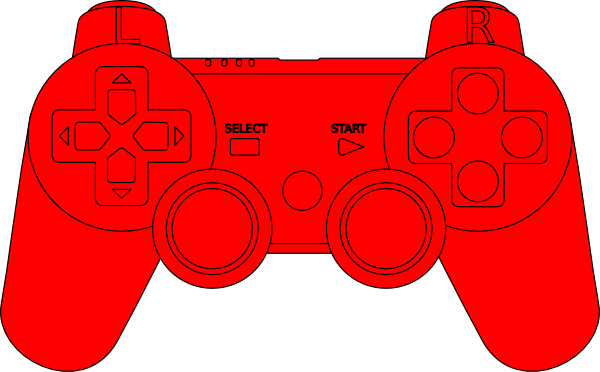 600x372 Ps3 Controller Red Clip Art